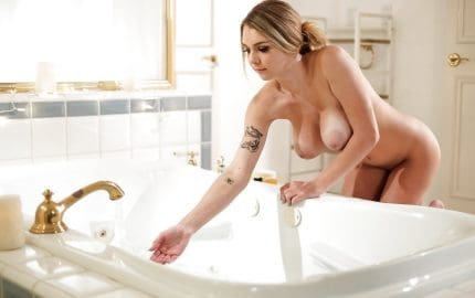 Gabbie carter takes bath